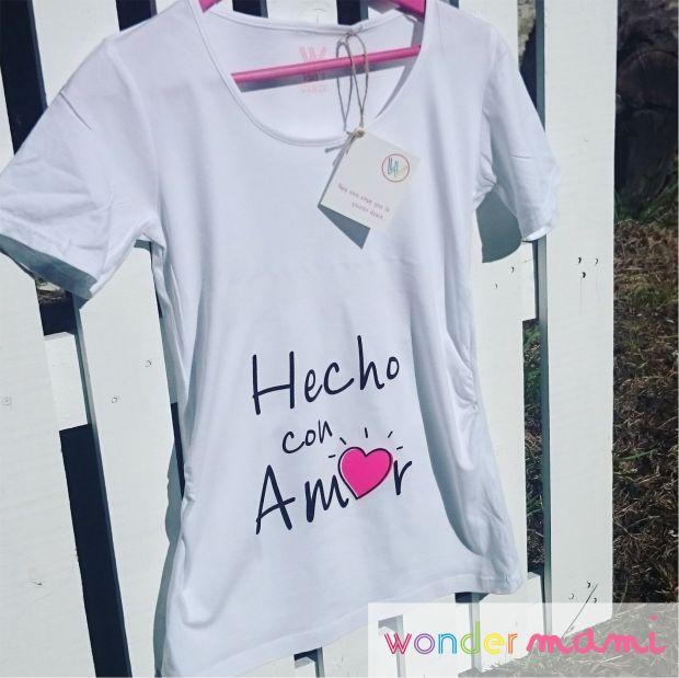 Camiseta premamá hecho con amor